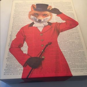 Other - Christopher James Art Fox in Red Coat